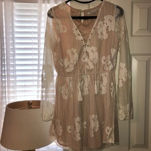 Lovers and Friends lace and cream dress